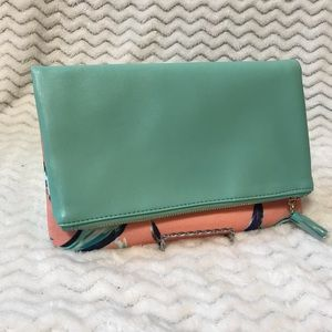 Rachel Pally reversible fold over clutch